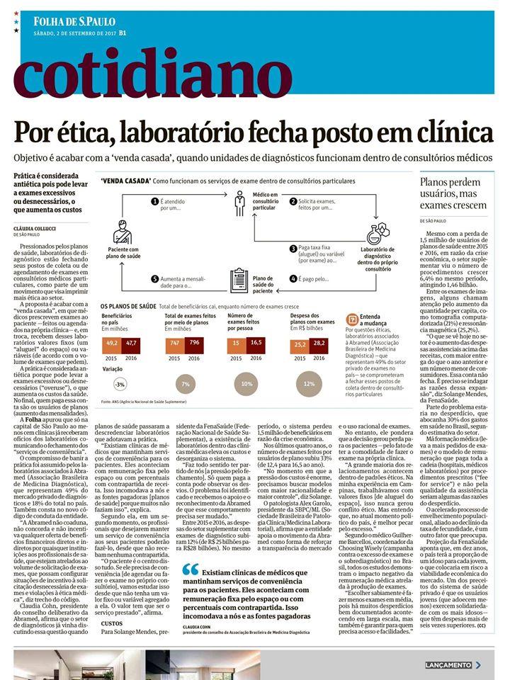 Abramed é citada em matéria do Cotidiano da Folha de S. Paulo
