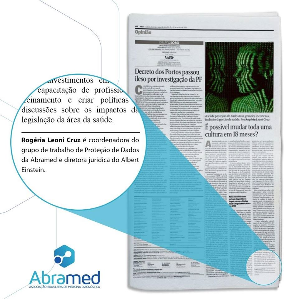 Artigo sobre LGPD é destaque no jornal Valor Ecônimico
