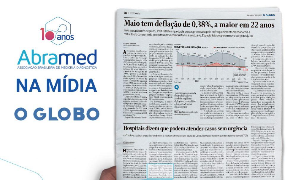 Associações do setor de saúde falam ao Jornal O Globo sobre atendimentos eletivos durante a pandemia