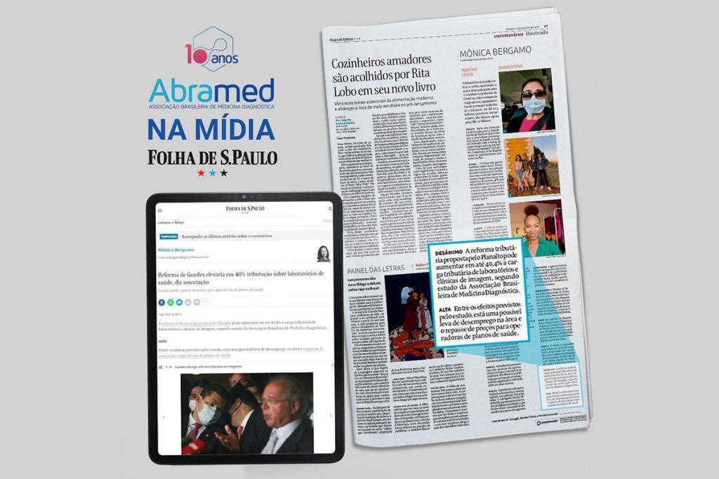 Folha de S.Paulo destaca estudo da Abramed sobre impactos da Reforma Tributária na Medicina Diagnóstica