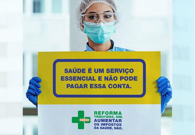 """""""A saúde não pode pagar essa conta"""" – Campanha apresenta os impactos da Reforma Tributária no setor de saúde brasileiro"""