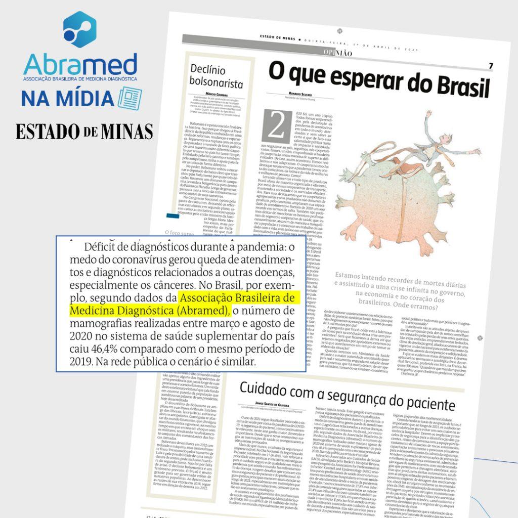Dados do Painel Abramed são utilizados em coluna no Estado de Minas