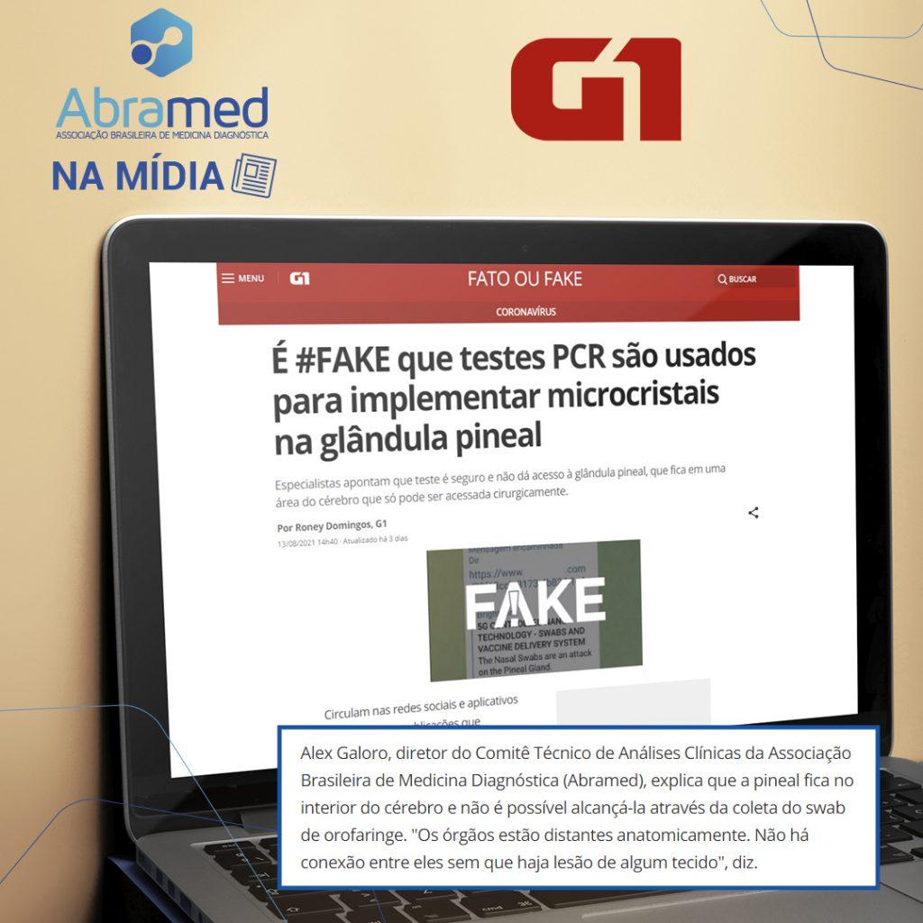 Diretor do Comitê de Análises Clínicas da Abramed é fonte na editoria Fato ou Fake do G1