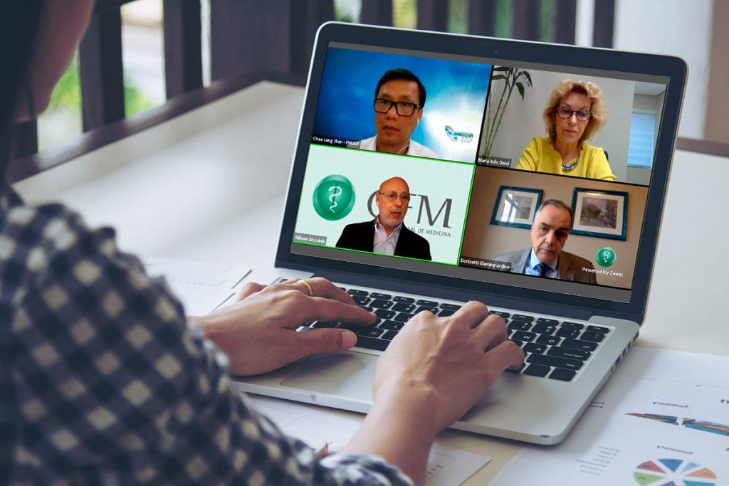Wilson Shcolnik modera debate sobre telemedicina em evento promovido pelo CFM